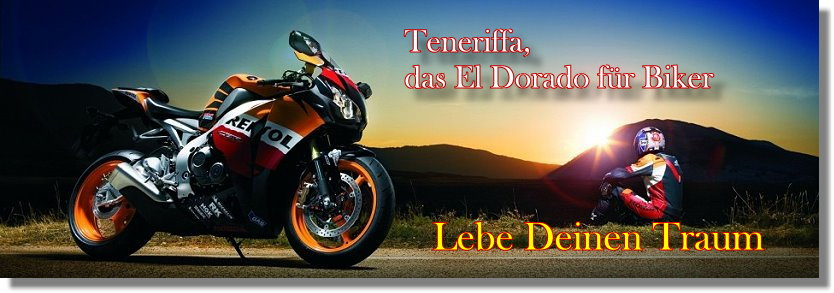 Teneriffa Motorrad-Verleih und Motorrad-Touren. Harley-Davidson, BMW, Kawasaki.