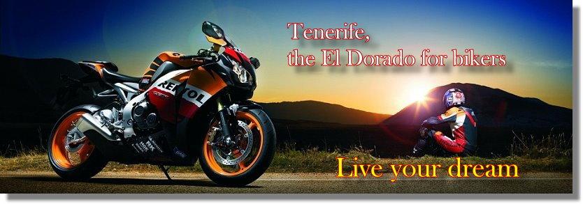 Tenerife motorbike rental and motorcycle tours. Harley-Davidson, BMW, Kawasaki.